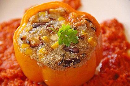Paprika vegan gefüllt mit Amaranth 1