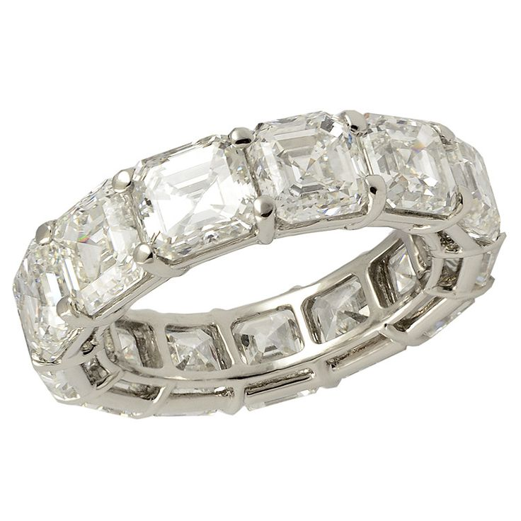 14 best Wedding Bands images on Pinterest Jewelry Emerald cut