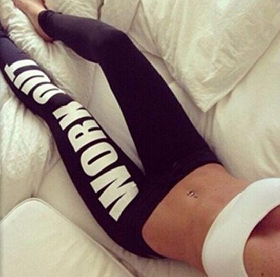 WorkOut Damen Leggings -Schwarz-Weiß  Sporthose für Fitness wie Yoga, Zumba, Joggen, Fitnesstudio und mehr.  XS-S-M - DE34-36-38     auf www.kaczerwi.de  #workout #sporthose #kaczerwi