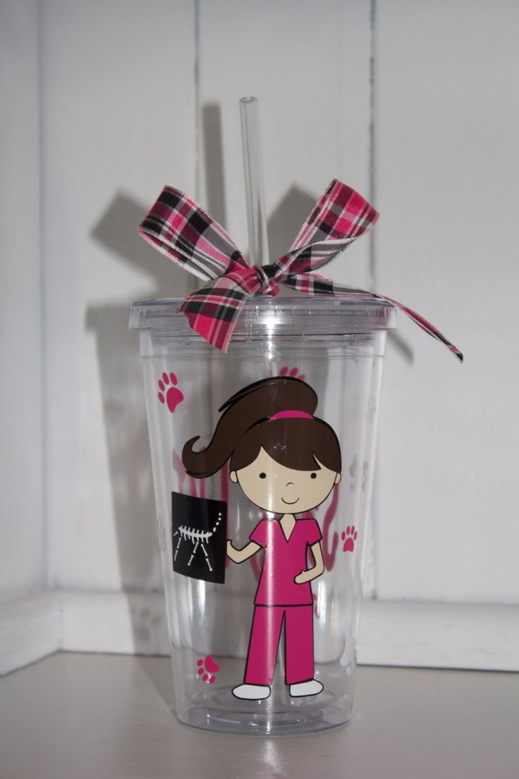 Personalized Vet Tech Tumbler by ThePompousPiglet on Etsy, $14.00