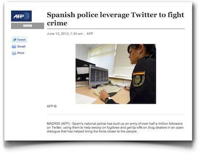 La policía y su uso de Twitter