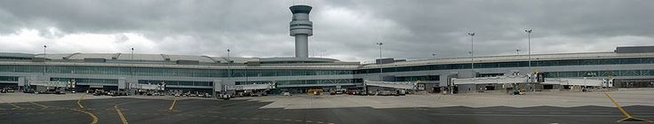 Toronto Pearson Airport - Terminal 1 seen from the tarmak