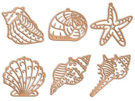 paper cut seashells - Google Search