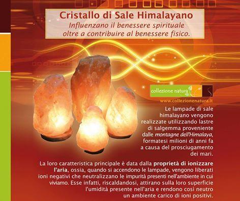 Le lampade di sale himalayano purificano l'aria donando benessere e relax interiore.