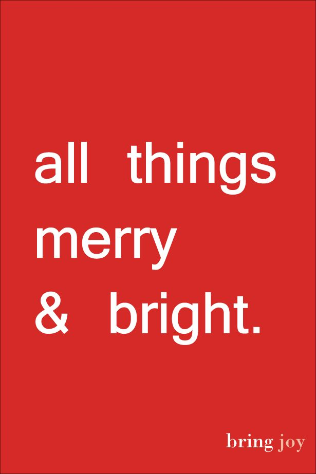all things merry & bright #christmas #holiday