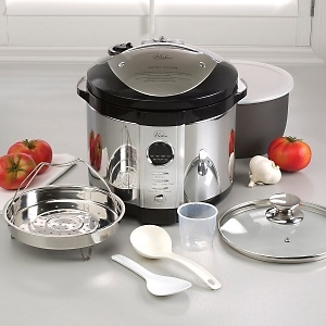 I gotta have this.  Wolfgang Puck Pressure Cooker