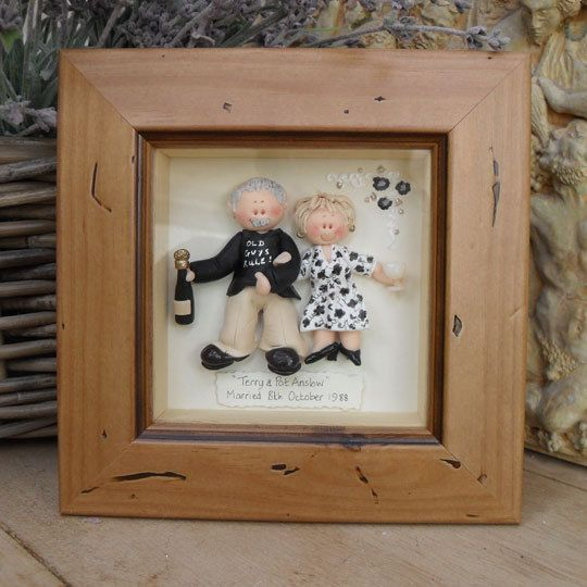 PERSONALISED ANNIVERSARY Gift, Custom Made Polymer Clay Character Pictures