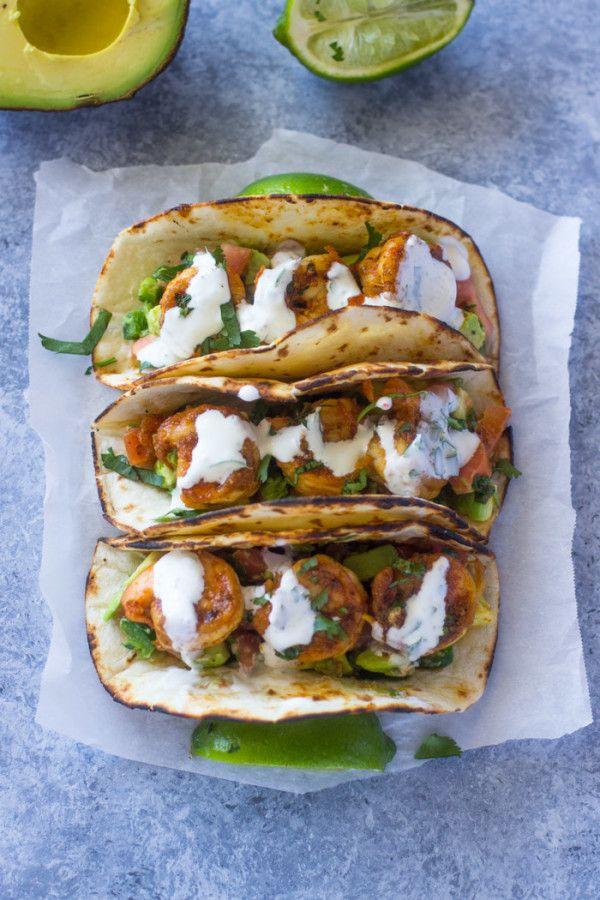 100 shrimp taco recipes on pinterest taco recipe tacos for Sour cream sauce for fish tacos