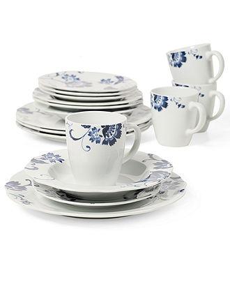 Tabletops Gallery Dinnerware, Bluefield 16 Piece Set