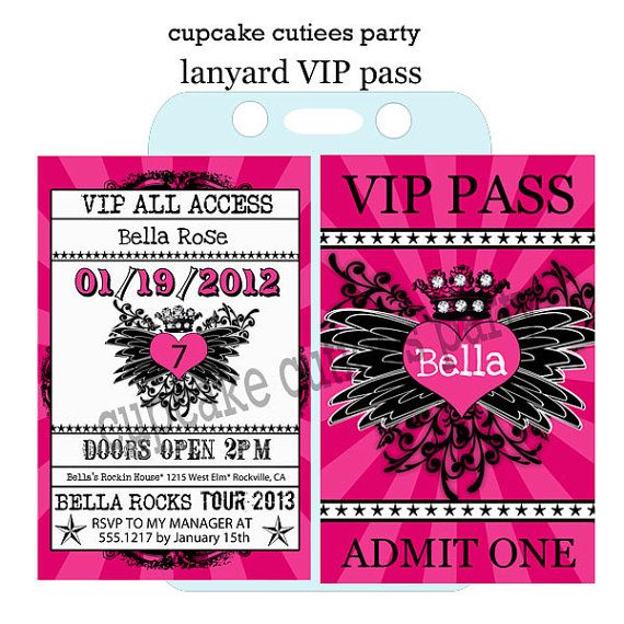 19 best Lanyard invitations images on Pinterest Birthday