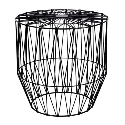Havana Geometric Wire Side Table - Black