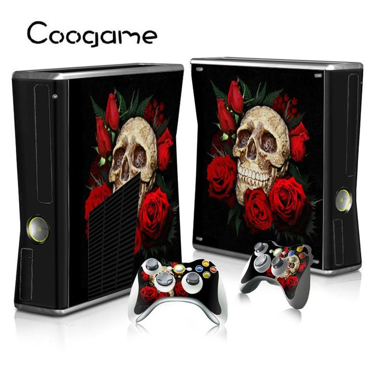 >> Click to Buy << Rose Skull Protective Film For Microsoft Xbox 360 Slim Decoration Decal Sticker For Xbox360 Slim Play Games #Affiliate