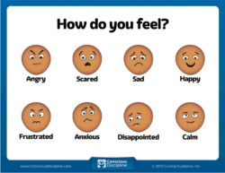 How Do You Feel Chart: You must be able to name it in order to tame it! Help children identify the emotion they are feeling with this handy chart. Images were custom-designed based on Dr. Bailey's extensive research about facial expressions and emotional recognition.