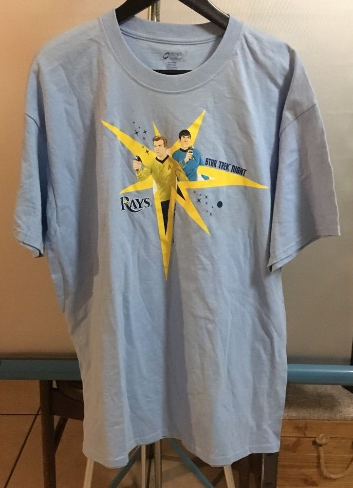 78597394 STAR TREK NIGHT TAMPA BAY RAYS LIGHT BLUE COLLECTIBLE T-SHIRT NICE LOOK BUY  NOW #TampaBayRays