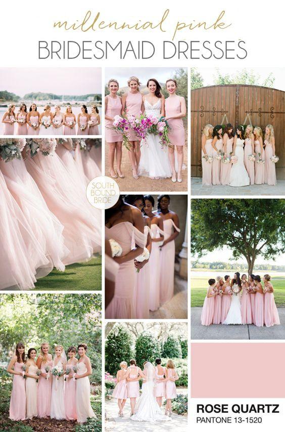 Millennial Pink Bridesmaid Dresses   SouthBound Bride