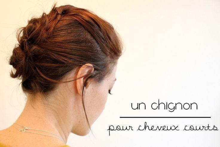 Trendy Hair Style : Tuto coiffure pour cheveux courts : un chignon désordonné // Messy bun
