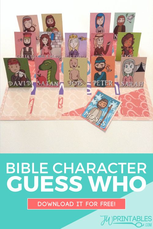 A game of guess who with bible characters! #jw #jworg #familyworship                                                                                                                                                                                 More