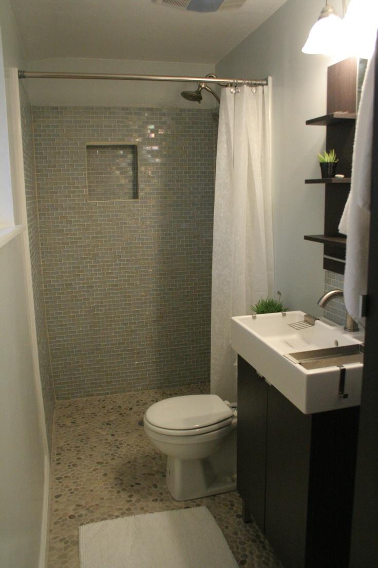 Pebble tile floor recycled glass shower tile ikea sink for Ikea floor tile