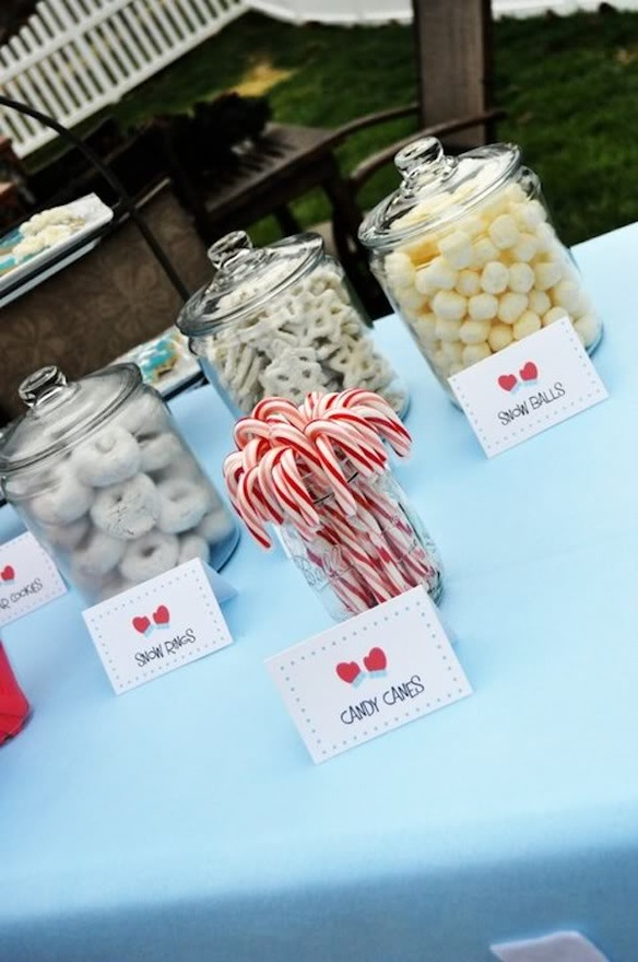 winter-snow theme Birthday Party Ideas