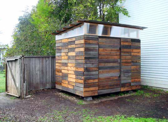Evelyn Lee Blogs about a great garden shed created from recycled materials