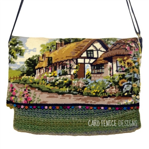 The Cottage,   Upcycled wool tapestry Bag.  Buy from - culturelabel.com  Request more details from - http://theprbeagle.wordpress.com/