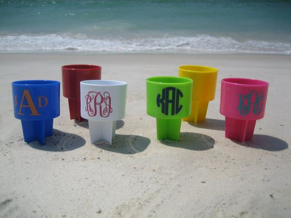 Beach Cup Holder - Monogrammed