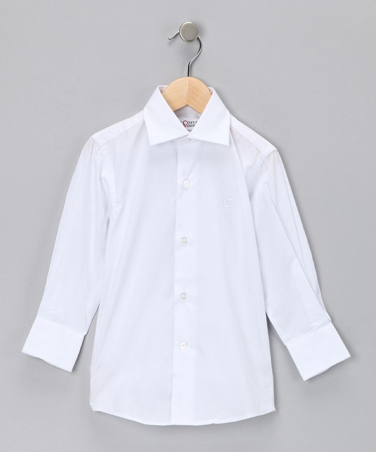 White Button-Up Shirt  from Garçons on #zulily