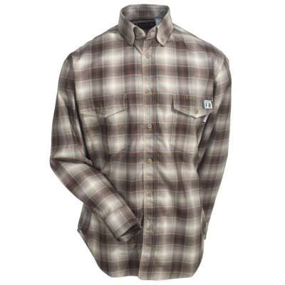 Wolverine Shirts: W1203330 236 Button Up Plaid FR Men's Khaki Shirt