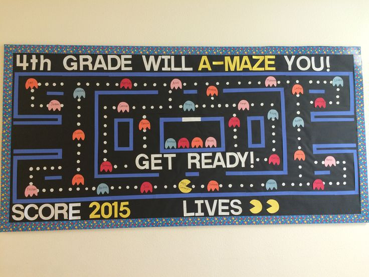 Pacman Welcome Back To School Bulletin Board Contest