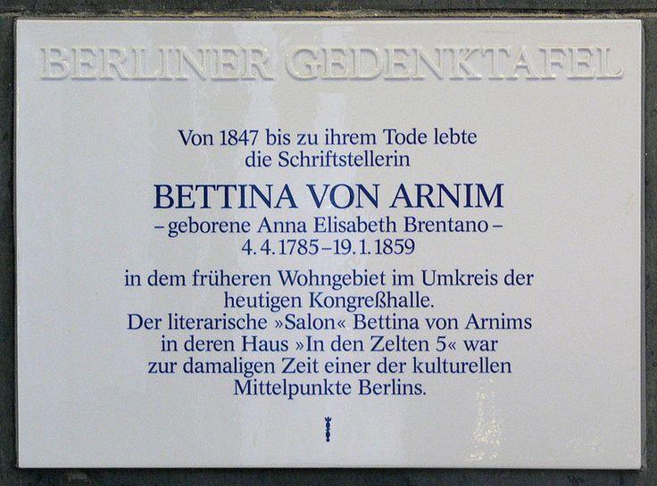 File:Gedenktafel Bettina-von-Arnim-Ufer (Tierg) Bettina von Arnim.jpg