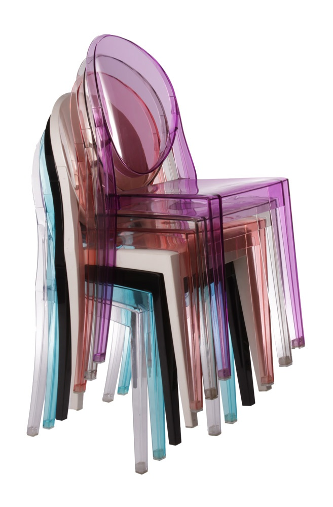 colours of ghost chair... i have a black one in my room and they are amaze in real life!