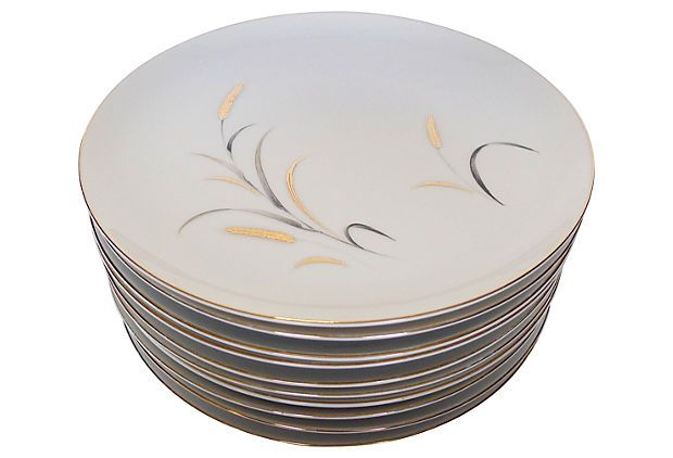Mid-Century Modern Dinner Plates, S/10 on OneKingsLane.com