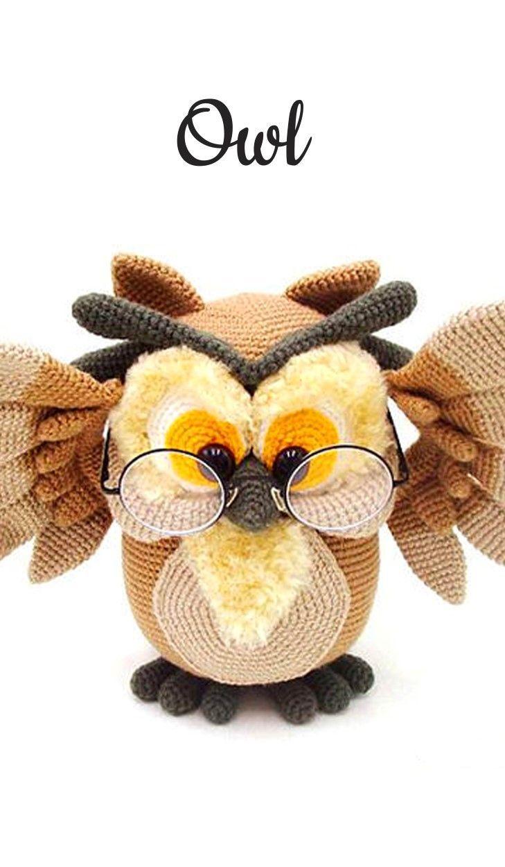 Nelson Owl Crocheted