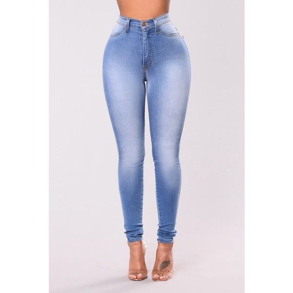 Classic High Waist Skinny Jeans Light Blue ($20) ❤ liked on Polyvore featuring jeans, super high-waisted skinny jeans, denim skinny jeans, high-waisted skinny jeans, light blue jeans and light blue skinny jeans