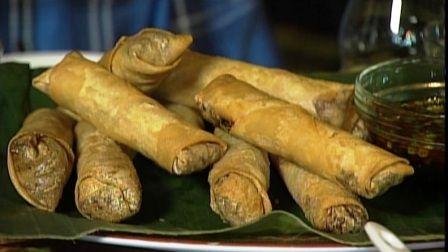 Nai Nai's Spring Rolls from Ming Tsai Can use regular cabbage and rice noodles.