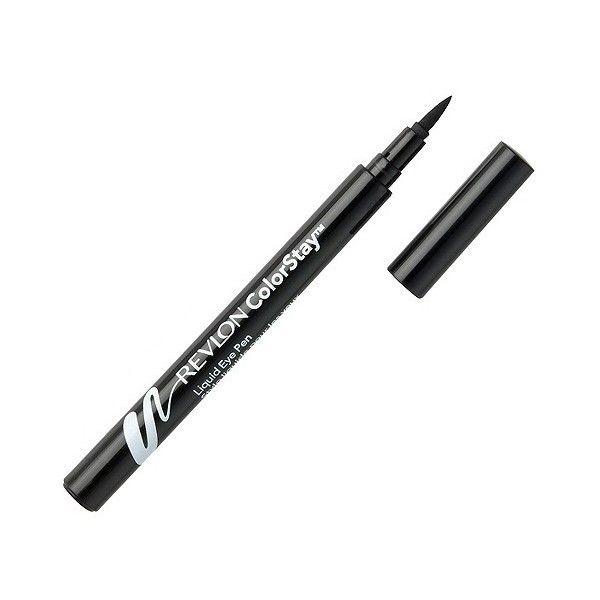 Revlon ColorStay Liquid Eye Pen ($8.39) ❤ liked on Polyvore featuring beauty products, makeup, eye makeup, eyeliner, beauty, eyes, cosmetics, blackest black, pen eyeliner and revlon eyeliner