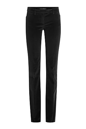 Flared-Skinny-Pants aus Samt