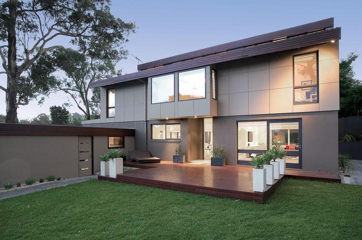 Design Danni Brown | Sundowner Court | Exterior| Decking | Pots | Agaves | Cladding | Render