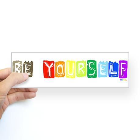 Be Yourself Rainbow 'Pride' Bumper Sticker