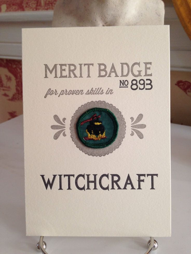 Witchcraft Merit Badge by SnarkyScouts on Etsy https://www.etsy.com/listing/205112201/witchcraft-merit-badge