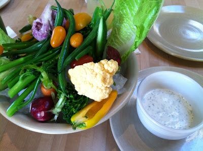true food kitchen vegetable crudites with tzatziki dip gluten free the gluten exchange