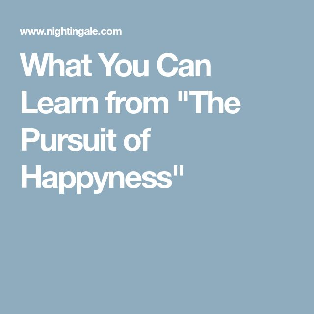 """What You Can Learn from """"The Pursuit of Happyness"""""""