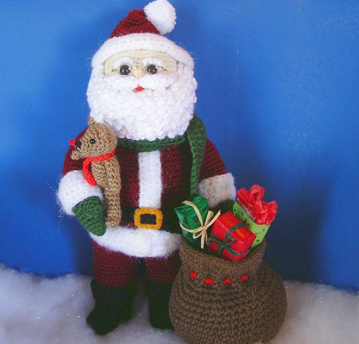 Woodland santa pdf crochet pattern navidad adornos - Adornos navidenos crochet ...