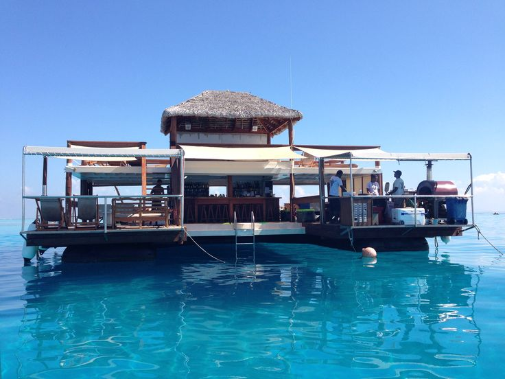 Cloud 9 Fiji. Amazing place to snorkel reefs, have pizza and beer for lunch.