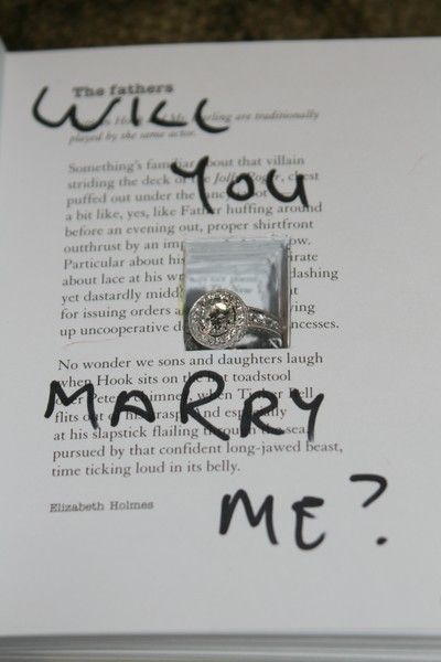 Hidden ring in a book #engagement #proposal #idea