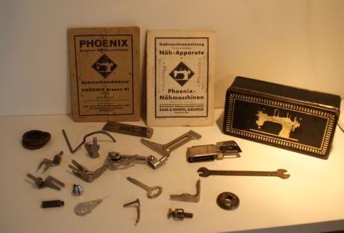 Antik Phoenix Dose Blechdose Werbung Nähmaschinendose Ersatzteile Hefte | eBay