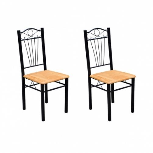 2 Dining Chairs Set Metal Wood Light Kitchen Dining Room Furniture Contemporary   Enjoy this Amazing Gift. Take a look LUXURY HOME BRANDS and Grab this bargain Now!