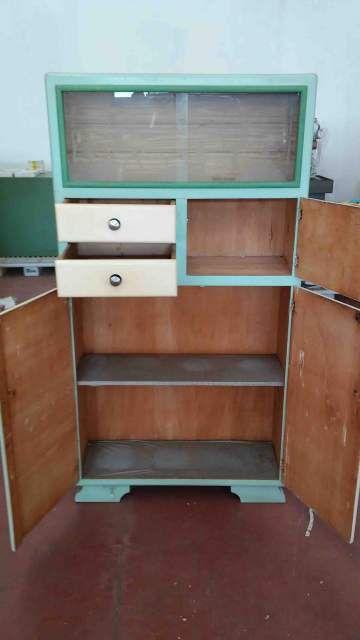 Credenza dispensa vintage anni 50 in legno 4