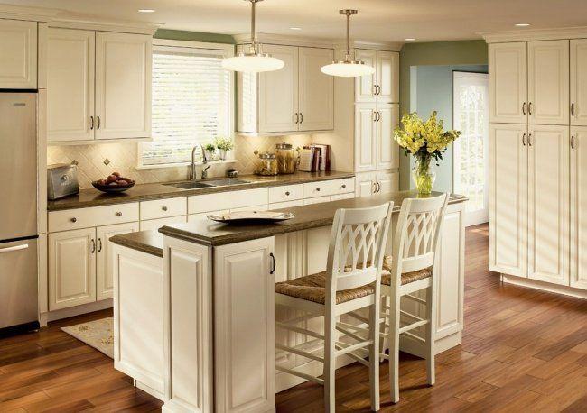 white kitchen islands with seating | 100 idées de cuisine avec îlot central contemporaine ou ...