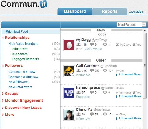 Great write up of the Twitter management tool, Commun.it.